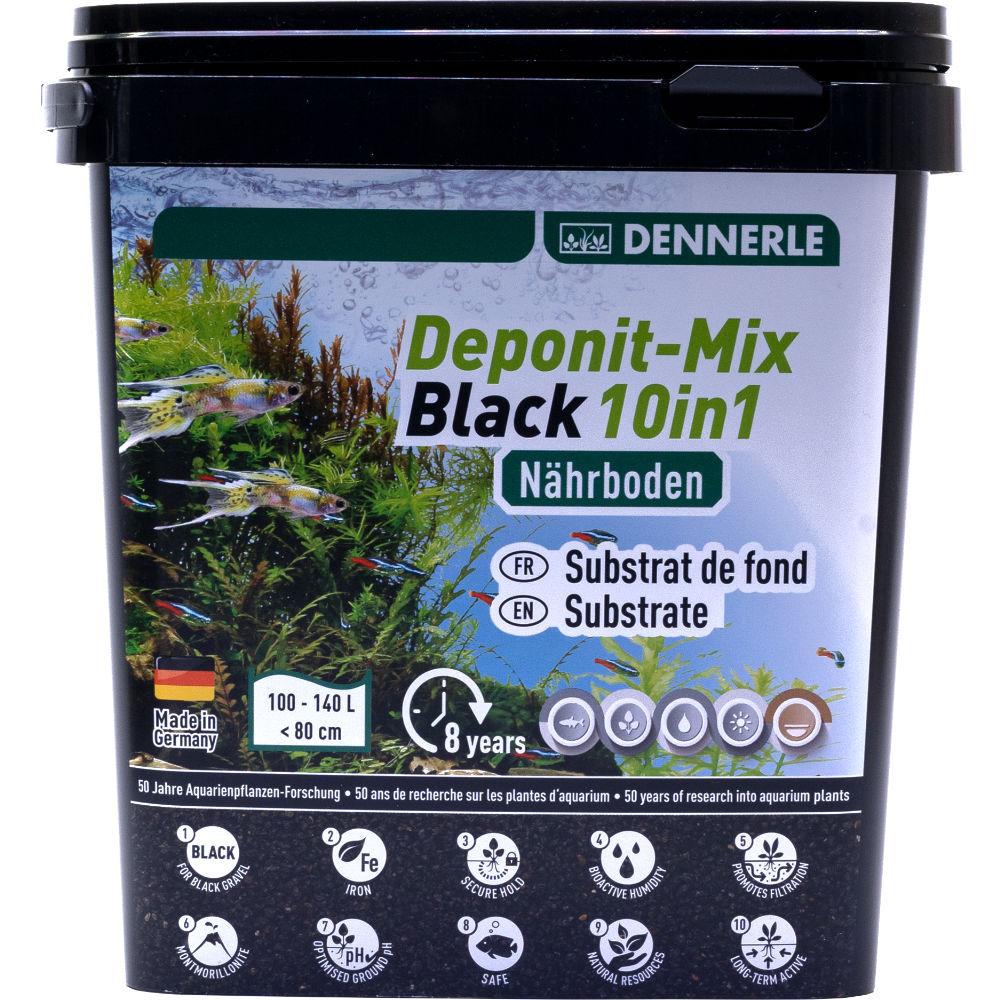 Питательный субстрат Dennerle DeponitMix Professional Black 10in1 4,8 кг